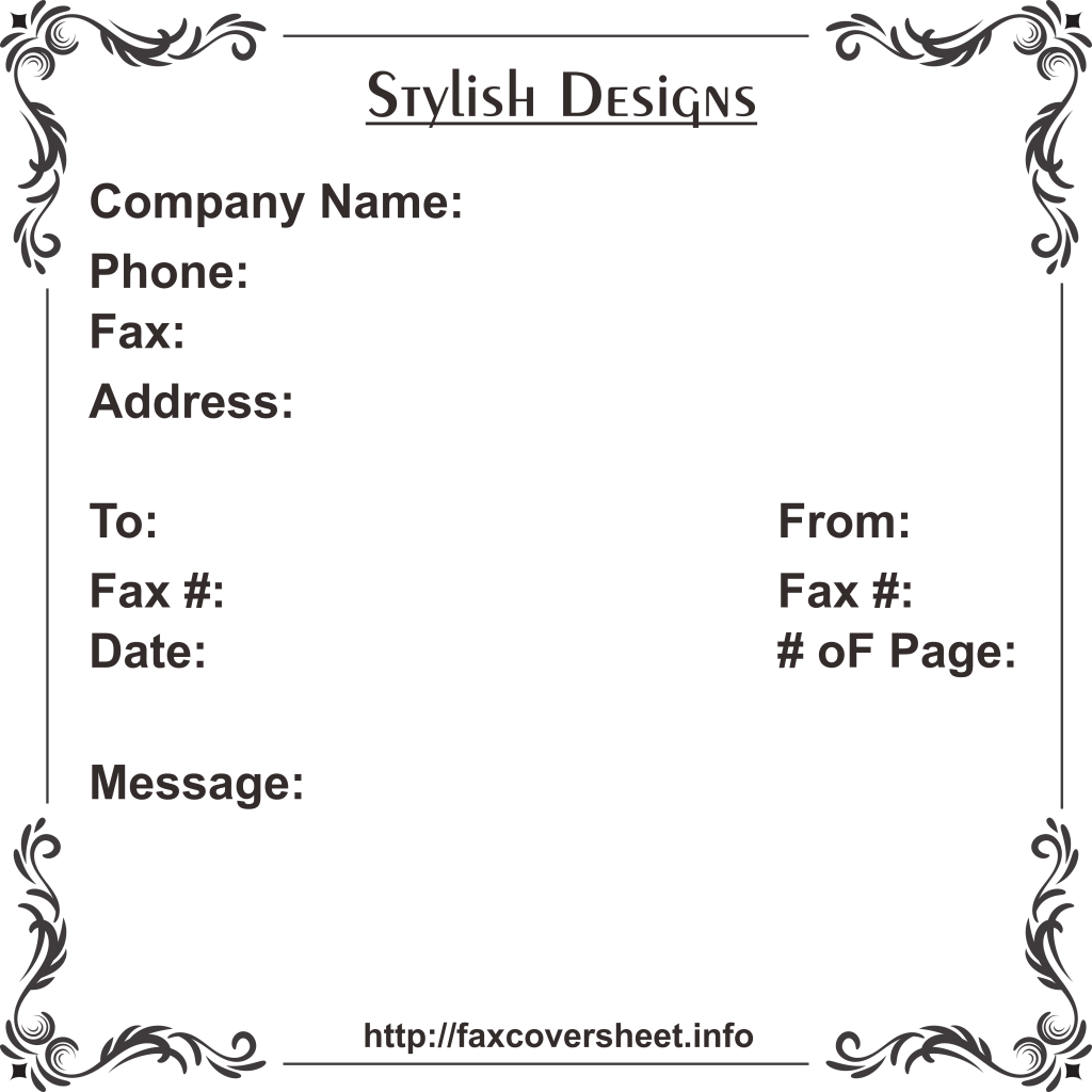 Free Stylish Design Fax Cover Sheet