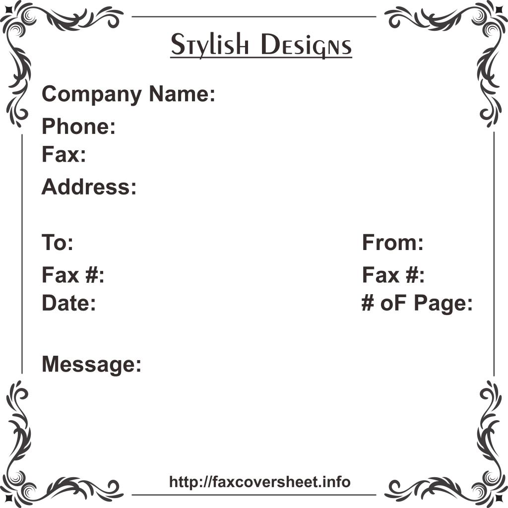 Free Stylish DesignFaxCoverSheet