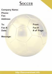 Soccer Fax Cover Sheet Templates