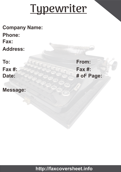 Typewriter Fax Cover Sheet Templates