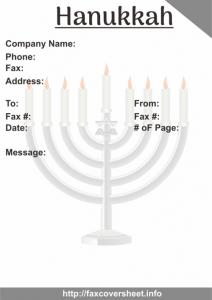 Hanukkah Fax Cover Sheet Templates