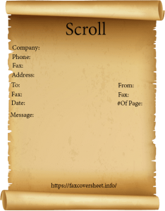 Scroll Fax Cover Sheet