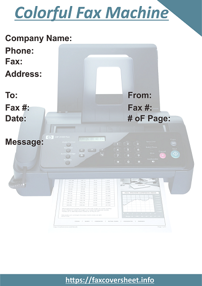 Colorful Fax Machine Fax Cover Sheet