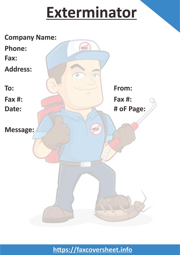 Free Exterminator Fax Cover Sheet