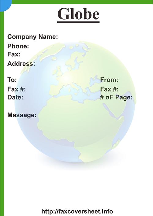 Globe Fax Cover Sheet Templates