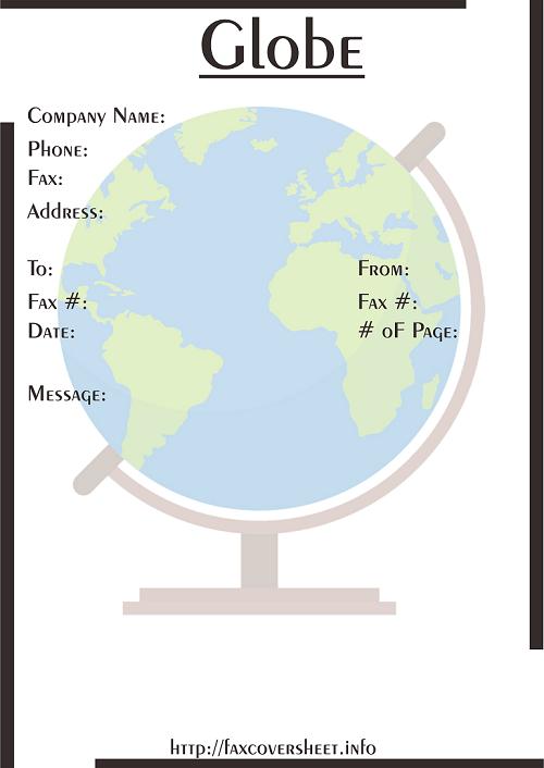 Globe Fax Cover Sheet