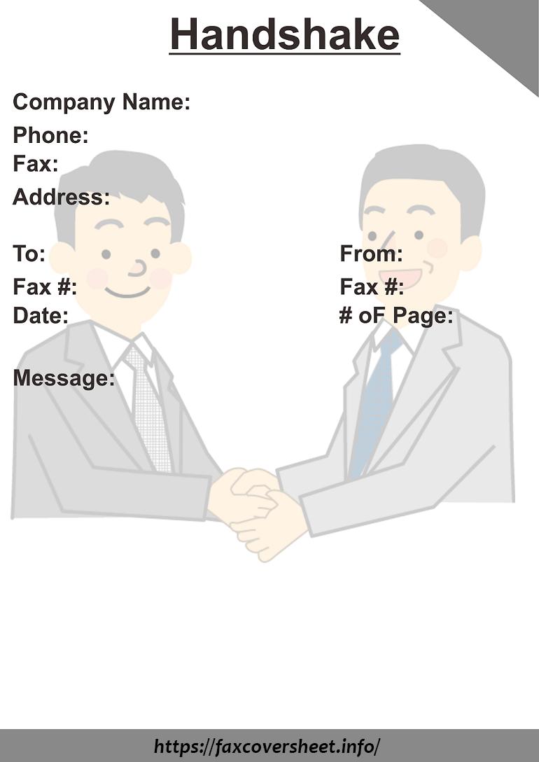 Handshake Fax Cover Sheet