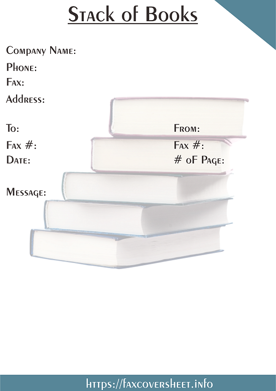 Free Stack of Books Fax Cover Sheet