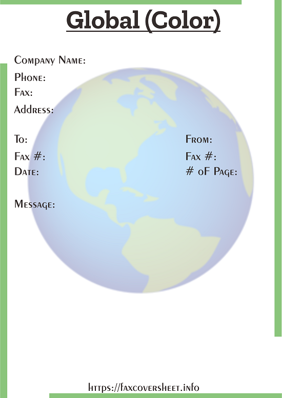 Global Fax Cover Sheet Templates