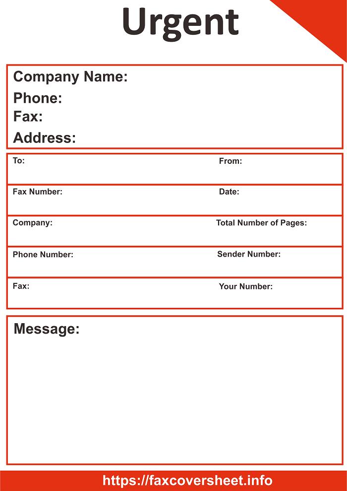 Free Urgent News Fax Cover Sheet