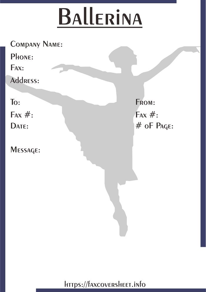 Free Ballerina Fax Cover Sheet