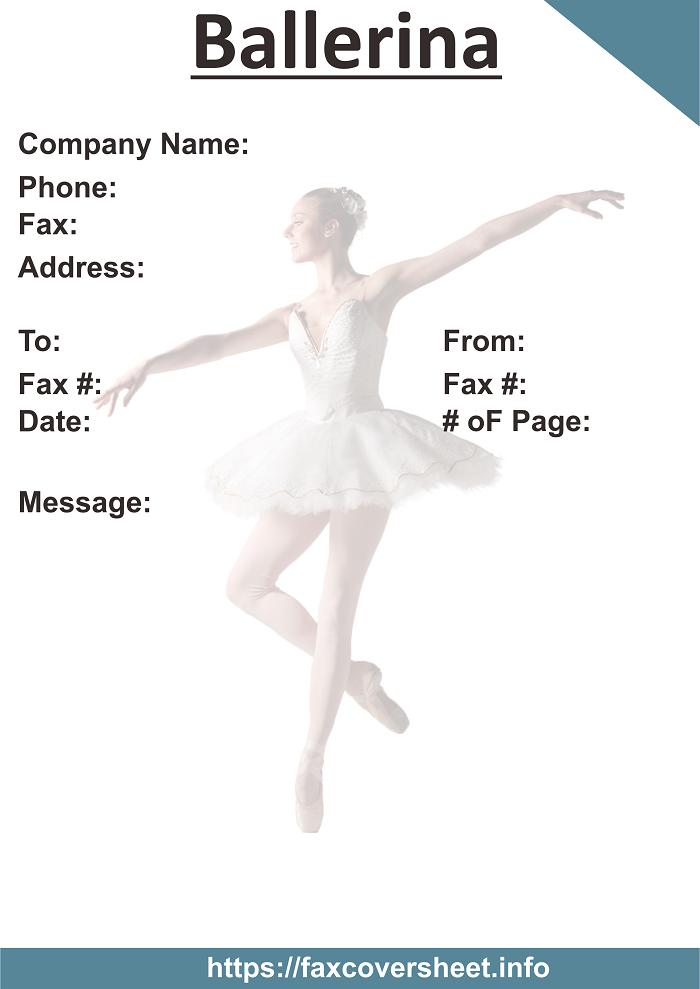 Ballerina Fax Cover Sheet