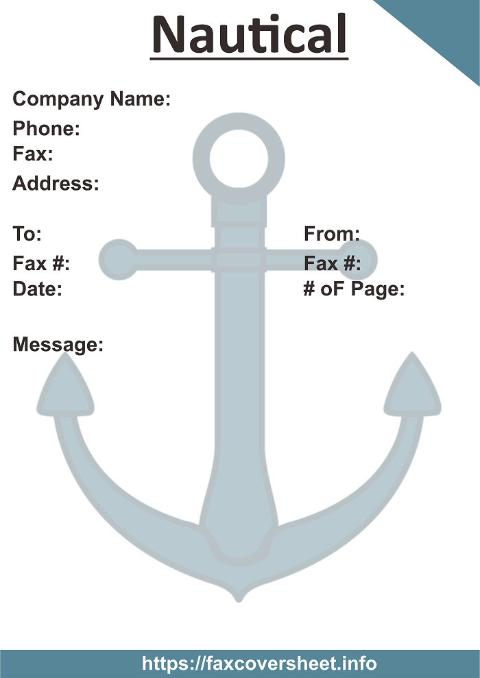 Free Nautical Fax Cover Sheet
