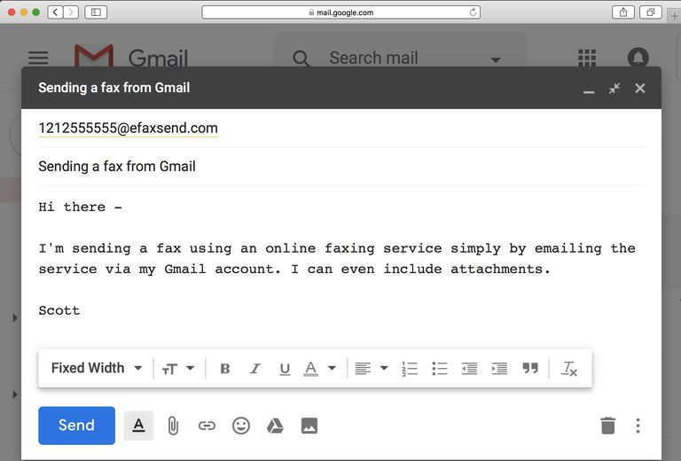 send fax from gmail free