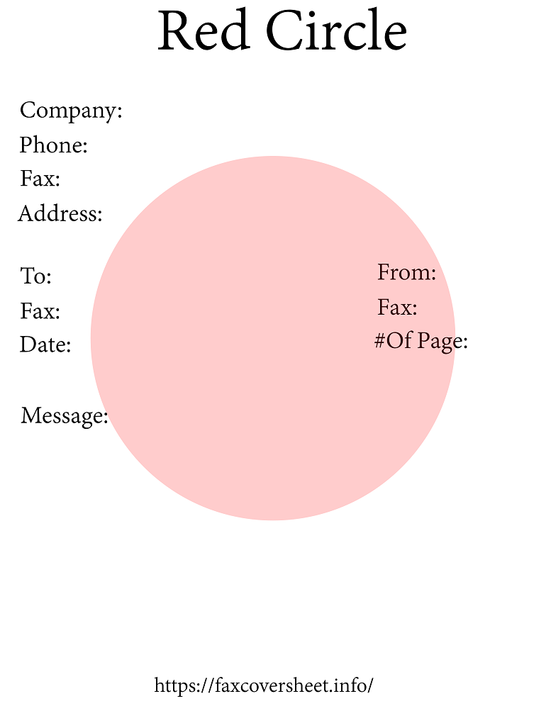 Free Red Circle Fax Cover Sheet
