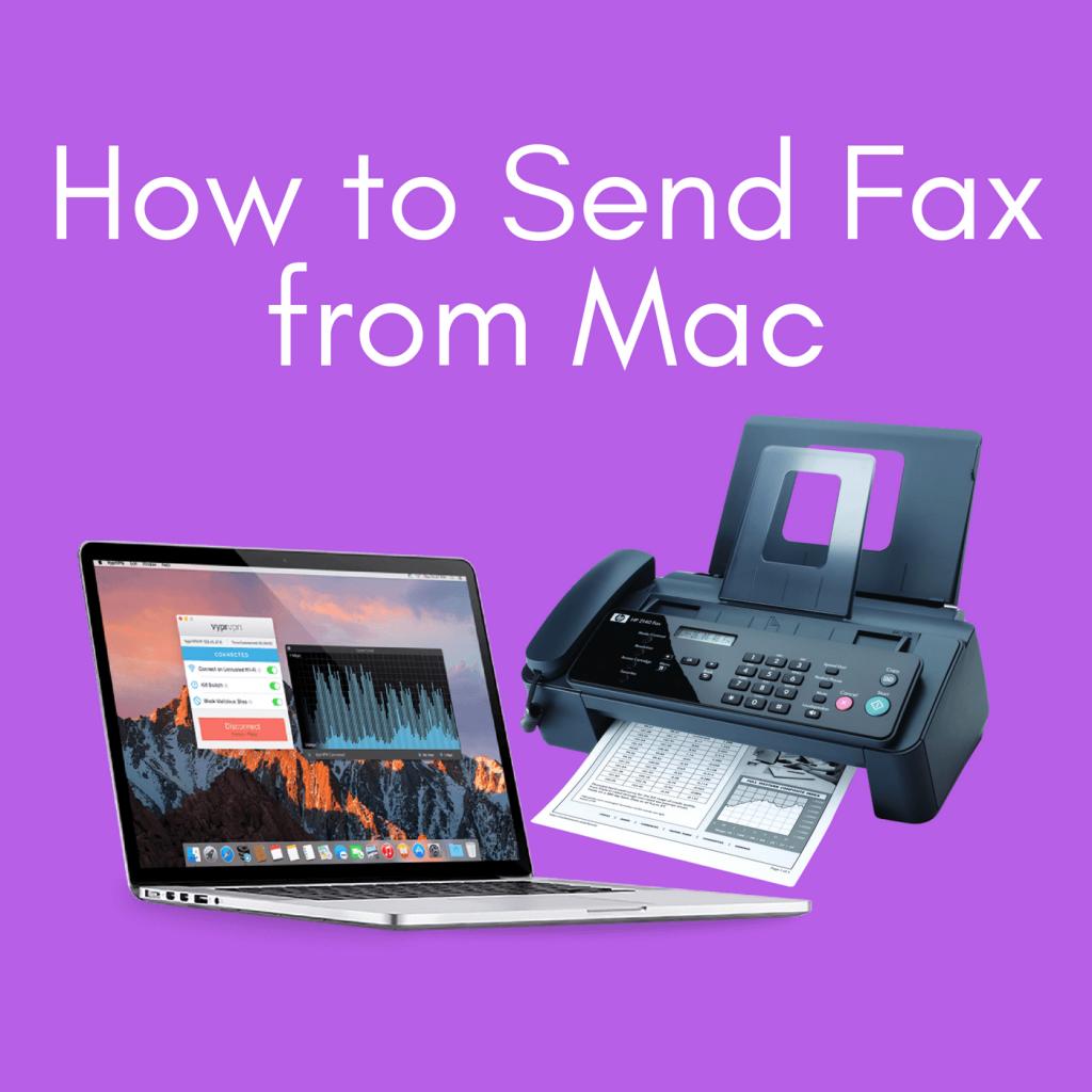 send fax from mac