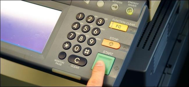 fax and copier machine