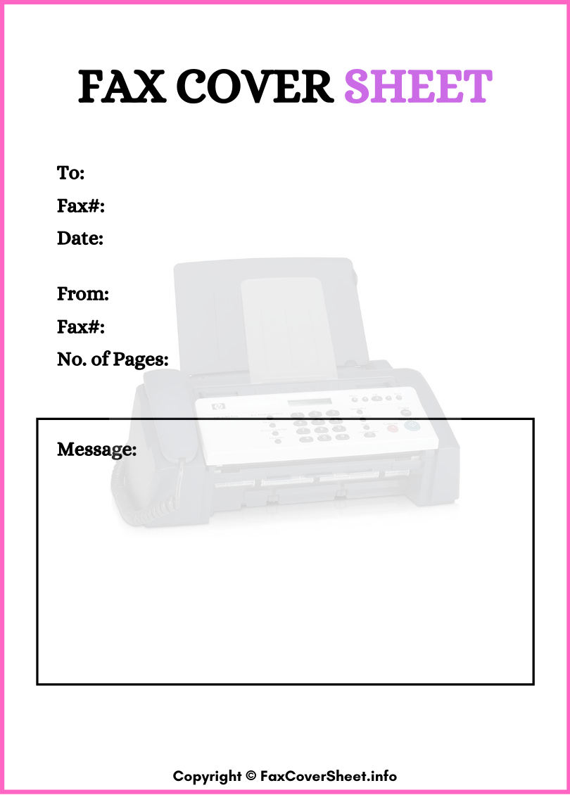 Free Printable Standard Fax Cover Sheet
