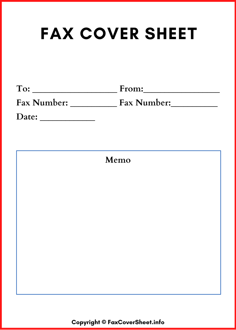 Printable Fax Cover Sheet Download