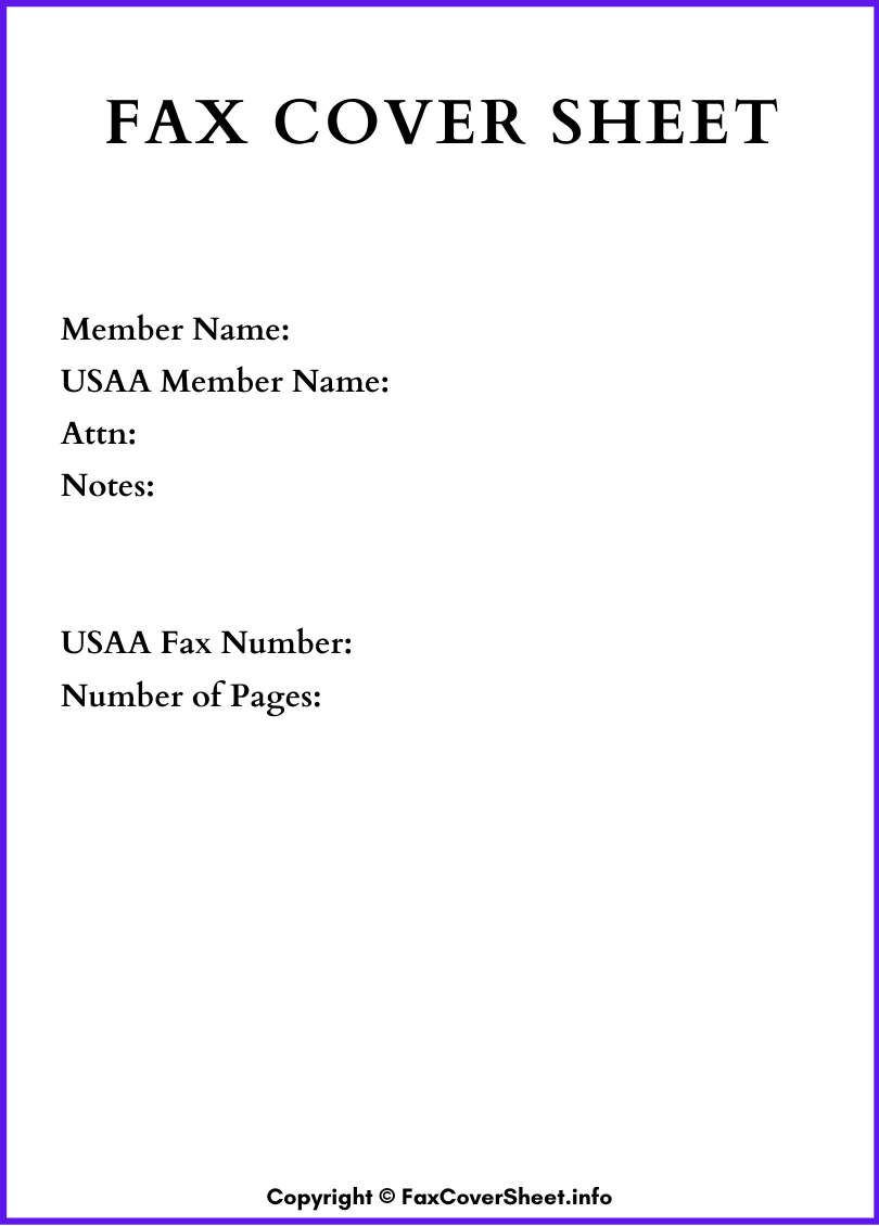 Printable Fax Cover Sheet Word Download