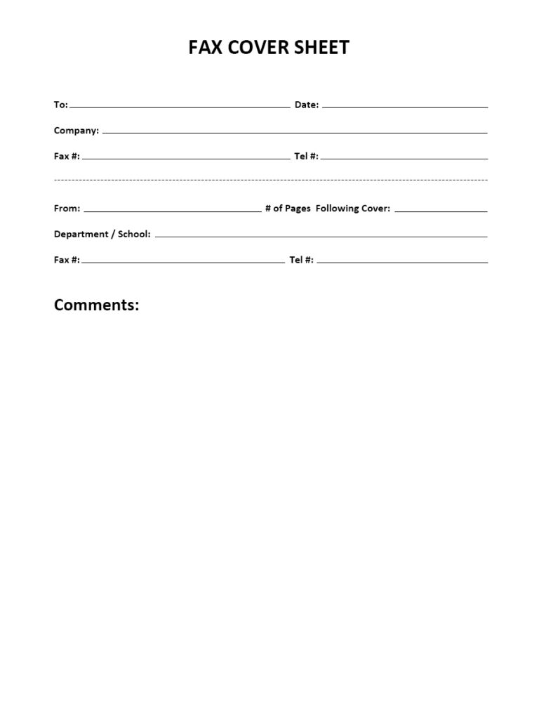 IRS Fax Cover Page Templates