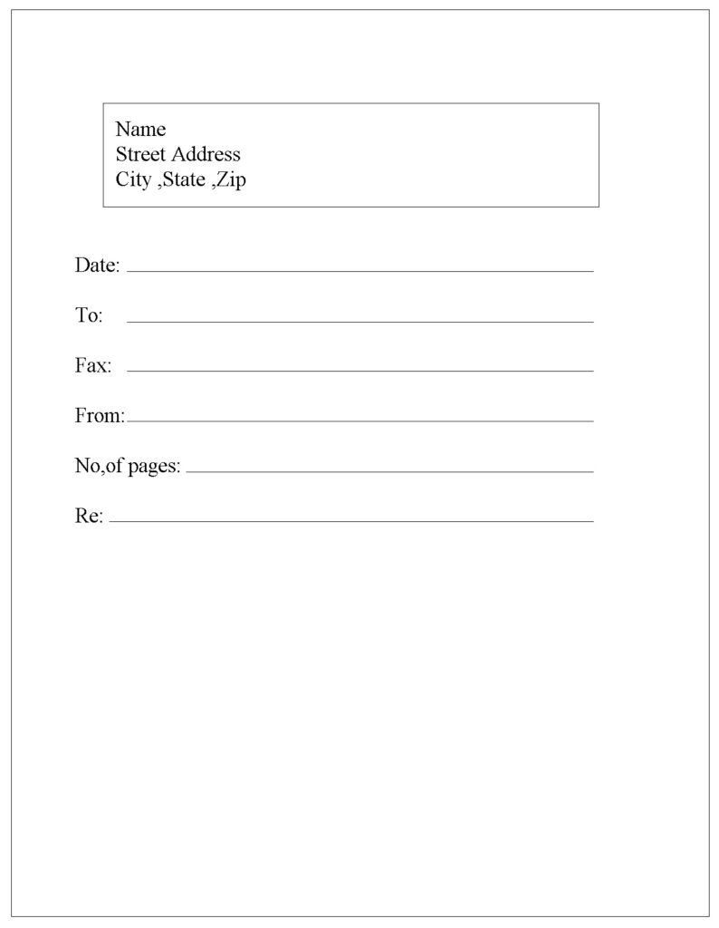 IRS Fax Cover Sheet PDF