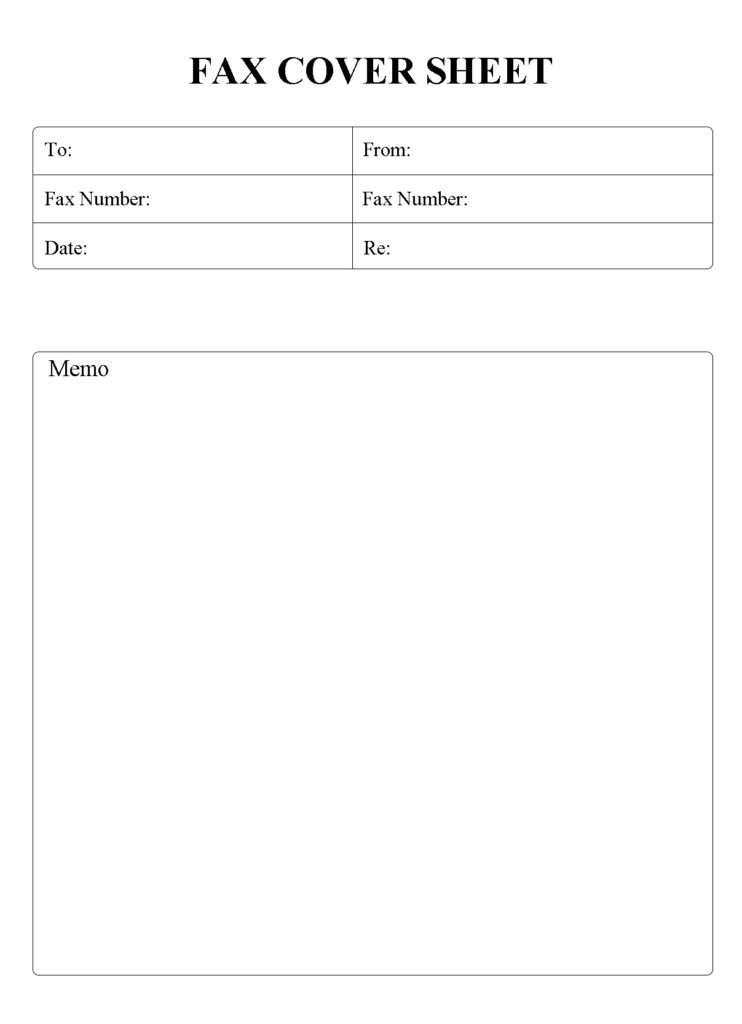Free IRS Fax Cover Sheet Template